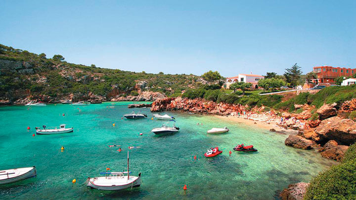 fishingtripmenorca.co.uk boat tours to Cala Canutells in Minorca