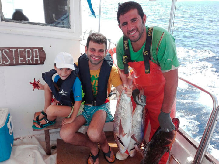 www.fishingtripmenorca.co.uk boat trips fishing at Menorca with Gonzalez